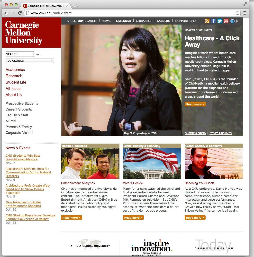Carnegie Mellon University Homepage Featured ClickMedix