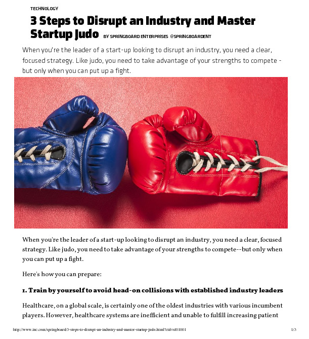 thumbnail of 3 Steps to Disrupt an Industry and Master Startup Judo _ Inc