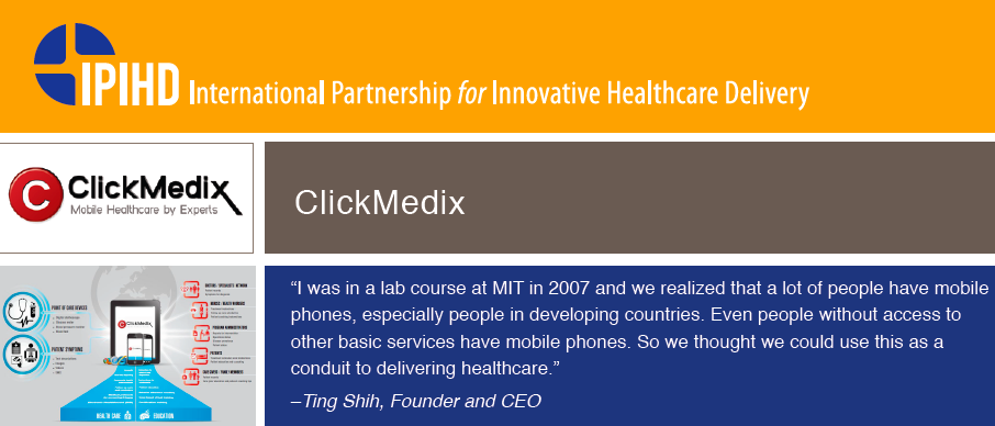 The International Partnership for Innovative Healthcare Delivery (IPIHD), catalyzed by the World Economic Forum, was formed as a result of McKinsey's extensive research analyzing innovators worldwide.